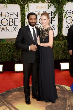 Pin for Later: Take a Look Back at the Best Moments From British Stars at the Golden Globes Chiwetel Ejiofor was a dapper date in 2014