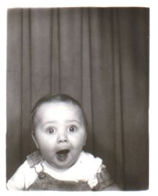 Surprise. photobooth. Vintage photo. Jodes, I can probably make a vintage option for the photobooth- cute