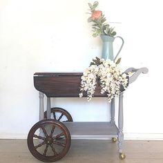Repurposed Furniture, Antique Furniture, Antique Tea Cart, Tea Trolley, Chalk Paint Furniture, Vintage Tea, Painting Tips, Annie Sloan, Furniture Makeover