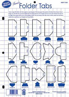 Dinglefoot's Scrapbooking - Folder Tabs Template ~ Hot off the Press, $4.99 (http://www.dinglefoot.com/folder-tabs-template-hot-off-the-press/)