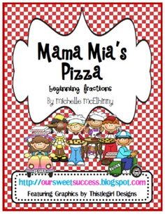 This 9 page Fractions FREEBIE packet is pizza themed and contains:Mini Lesson ListStudent Objective ChecklistMatching GameRecording Sheet...