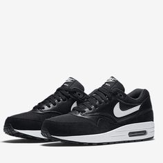 Nike air max 1 essential shoes Nike air max 1 essential shoes in black/white.  Mix of leather/suede. Brand new with shoebox (no lid).  Never worn.  No trades.  Price is firm. Nike Shoes Athletic Shoes