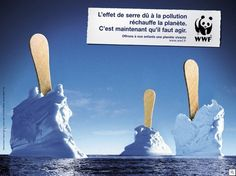This cool ad grabbed my attention first and foremost because the glaciers looked delicious when an ice cream spoon was graphically added into the picture.  I then quickly realized that this ad for depicting melting glaciers is raising awareness for climate change.  Using food as a lure for something else entirely is a great idea.