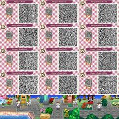 Animal Crossing: New Leaf QR Code Paths Pattern : Photo Nintendo Switch Animal Crossing, Animal Crossing Game, Photo New, Acnl Paths, Leaf Animals, Motif Acnl, Ac New Leaf, Happy Home Designer, Animal Crossing Qr Codes Clothes