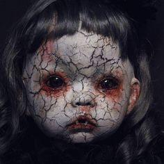 "98 Likes, 6 Comments - Rachael Clark (@myprettydeadthings) on Instagram: ""#creepydoll #creepy #death #undead #artdolls #vampire #gothic #macabre #dark #nightmare #halloween…"""