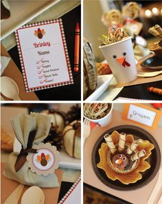 Cute Thanksgiving Table Ideas for Kids