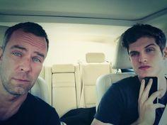JR Bourne (Chris Argent) & Daniel Sharman (Isaac Lahey) from Teen Wolf Teen Wolf Isaac, Teen Wolf Mtv, Teen Wolf Boys, Teen Wolf Cast, Carver Twins, Chris Argent, Werewolf Hunter, Victoria Moroles, Jill Wagner
