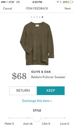 I love this sweater!!!! The color is perfect as well the style