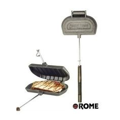 Make sandwiches with this campfire panini press. | 41 Camping Hacks That Are Borderline Genius