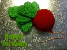 Red Radish Cakes And More, Crochet Earrings, Red, Rouge