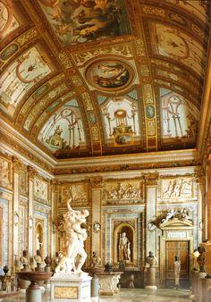 The gallery in Villa Borghese, Rome