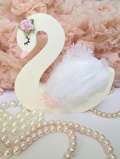 Swan nursery decor swan princess swan lake swan shelfie Boho Baby Shower, Baby Shower Princess, Baby Girl 1st Birthday, 1st Birthday Parties, Baby Shower Parties, Baby Shower Themes, Die Schwanenprinzessin, Swan Nursery Decor, Ballerina Party
