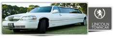 Our 10 passenger white Lincoln Towncar Stretch  Limousine comes with: Privacy divider DVD / CD / IPOD Upgraded sound system Wet Bar with sodas and ice Champagne & rock glasses Custom lighting Mirror ceiling