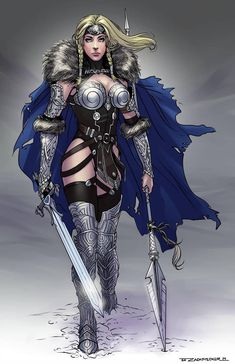 I wished to re-design a Marvel Universe character that I felt was well overdue for an update. Redesign of Marvel Comic's Valkyrie Comic Book Characters, Marvel Characters, Comic Character, Comic Books Art, Fantasy Characters, Female Characters, Comic Art, Marvel Heroines, Marvel Dc