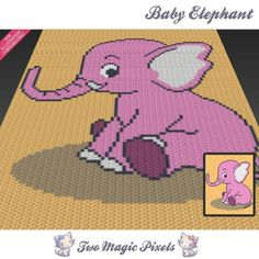 Looking for your next project? You're going to love Baby Elephant C2C Graph by designer TwoMagicPixels.