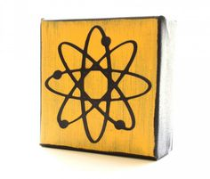 Atom Art Block- Modern Atomic