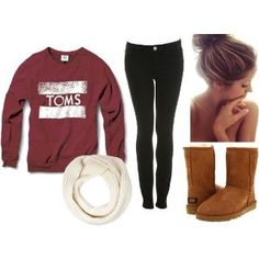Perfect lazy day outfit. If I could I would wear something like this everyday.