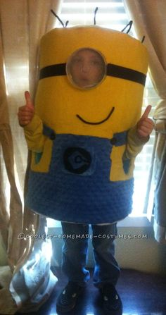 Head-Turning Minion Costume for a 5 Year Old Boy... This website is the Pinterest of costumes