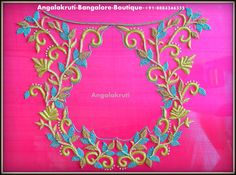 #Angalakruthi_Hand Embroidery Anarkali designs-Bridal embroidery designs in bangalore