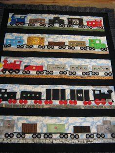 Finn's Train quilt