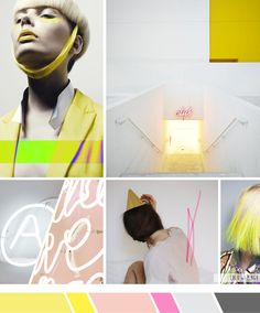 Inspiration board: Muted neon