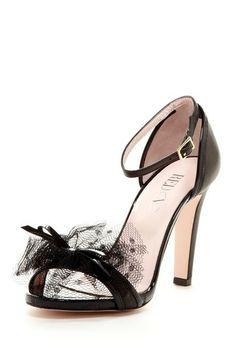 Valentino Polka Dot Mesh Bow Sandal
