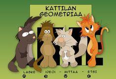 Kattilan geometriaa (TVT-harjoitus). Fun Math, Maths, Teaching Math, Bowser, Homeschool, Lime, Classroom, Teacher, Activities