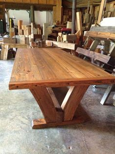 47 Modern Dinning Table Design Ideas Youll Love - Welcome to the World of Decor! Modern Dinning Table, Dinning Table Design, Wooden Dining Table Designs, Wood Table Design, Wooden Dining Tables, Rustic Table, Dining Room Table, Farmhouse Table Plans, Farmhouse Furniture