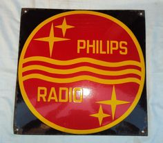 Old 1930-1950 Original Ultra #! Rare Vintage Philips Radio German Porcelain Sign from $999.0