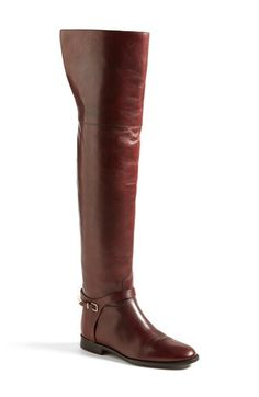 Free shipping and returns on Burberry 'Carmack' Over the Knee Boot (Women) at Nordstrom.com. A golden, logo-etched rand and bit hardware are the perfect accents to Burberry's utterly timeless over-the-knee boot, made ever more elegant in warm, bordeaux leather.