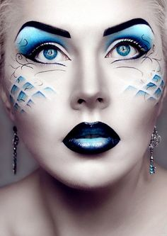 blue mermaid make up
