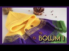 ÇOCUKLARA 3 YAŞA UYGUN KAPÜŞONLU HIRKA YAPIMI | Nazarca.com Crochet Baby Jacket, Knitted Baby Cardigan, Crochet Cardigan Pattern, Knitted Hats, Knit Crochet, Knitting Stitches, Baby Knitting, Knitting Patterns, Baby Sweaters