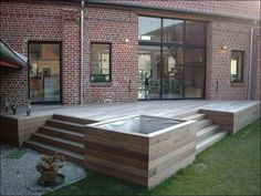 Teds Wood Working - Terrasses en bois composite Construction terrasse bois exotique - Get A Lifetime Of Project Ideas & Inspiration! Wooden Terrace, Wooden Decks, Deck Construction, Walled Garden, Outdoor Living, Outdoor Decor, Deck Design, Balcony Garden, Backyard Landscaping