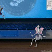 Skeleton Fairy GIF