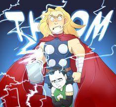 The Little Hero AU — Thor: YOUR DEATH WILL BE SWIFT AND JUST,...