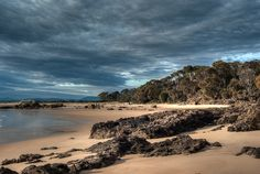 the beach in winter at Bridport Tasmania