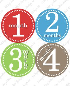 Baby month signs