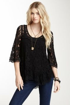Scalloped Lace Top by Free People on @HauteLook