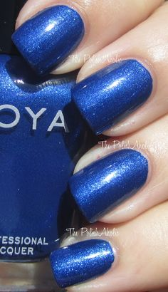 Zoya-Song Part of the Fall 2012 Diva Collection Toe Nail Color, Toe Nail Art, Nail Colors, Blue Nail Polish, Blue Nails, Beauty Nails, How To Do Nails, Pretty Nails, Hair And Nails