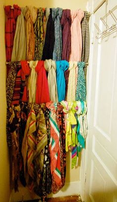 How to brighten a drab dorm room - hang scarfs