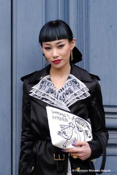 StreetStyle Dj @MLLE_YULIA Mademoiselle Yulia in Jean Charles de Castelbajac total look. Pic by Fabrizzio Morales-Angulo @fabrizzioma