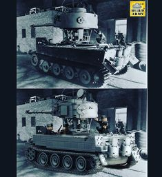 Tiger 1 turret getting installed in the factory Toy Tanks, Lego Ww2, Lego Pictures, Cool Pins, Lego Stuff, Military Weapons, Cool Lego, Lego Ideas, Armored Vehicles