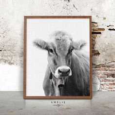 Cow Print French Country Farmhouse Decor by AMELIEVintageCo