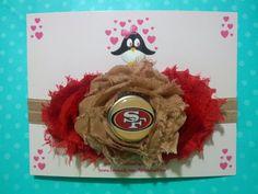 San Francisco 49ers headband, 49er, football headband, baby headband, infant headband, toddler headband