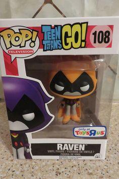 Funko POP Television TEEN TITANS GO Orange Raven #108 Vinyl Figure Toys R Us Exc
