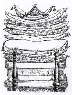 Paul Galdone - Princess & the Pea Illustration