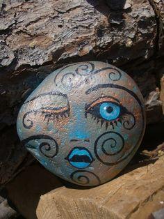 Wink Painted Rock:
