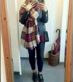 How to wear hijab with tartan scart-New hijab fashion inspirational looks – Just Trendy Girls