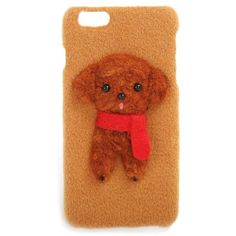 Teddy Bear Woolen Case For iPhone (£32) ❤ liked on Polyvore featuring accessories and tech accessories