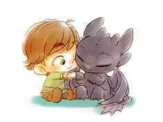 Baby Hiccup & Toothless